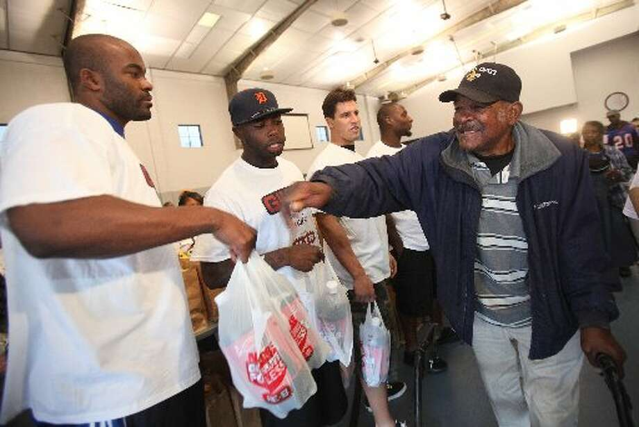Mario Williams took part in many charitable efforts. (Mayra Beltran / Houston Chronicle)
