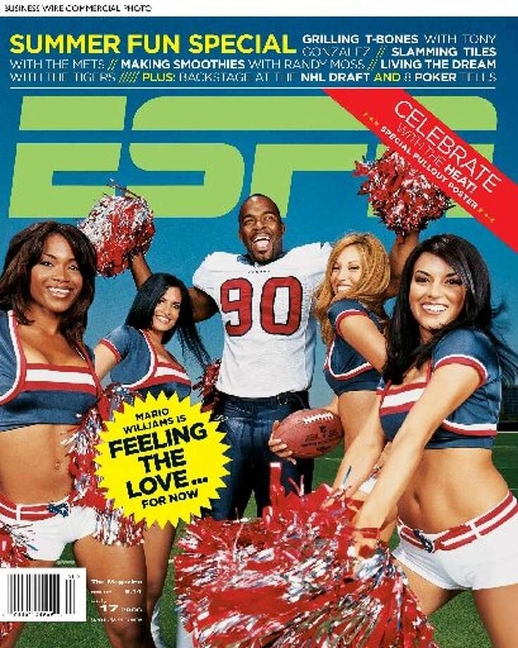 Mario Williams scored the cover of ESPN The Magazine. (ESPN PR)