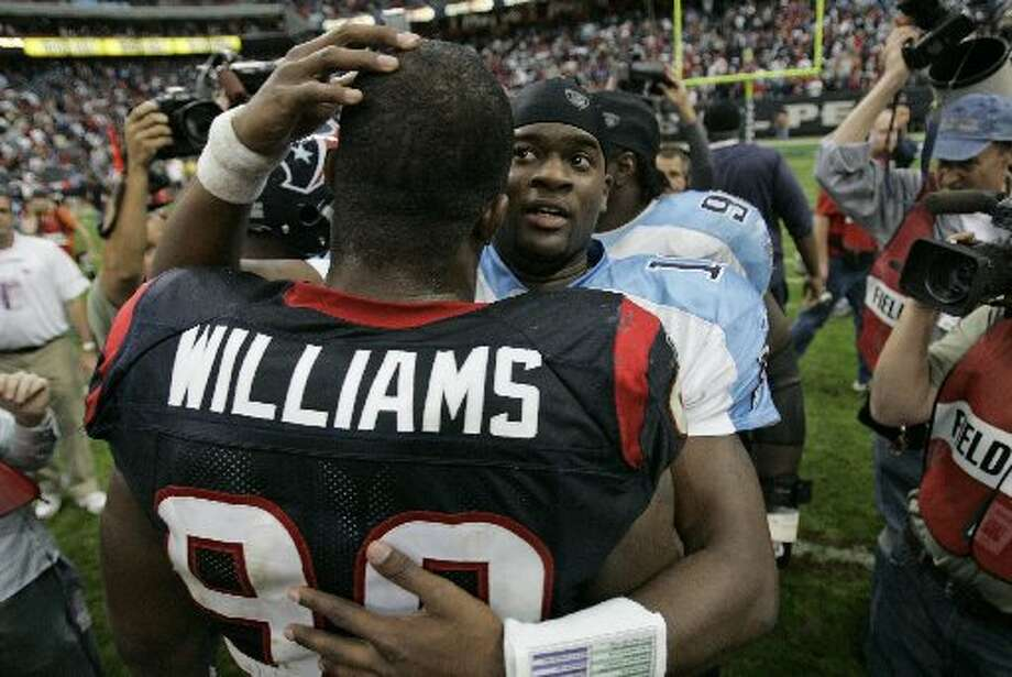 Fans wanted the Texans to draft Vince Young in 2006 over Mario Williams. (David Phillip / AP)