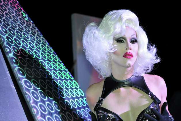 "Sharon Needles plays Dr. Frank N. Furter in ""The Rocky Horror Show"" at Woodlawn Theatre. Photo: Courtesy, Sandra Trevino"