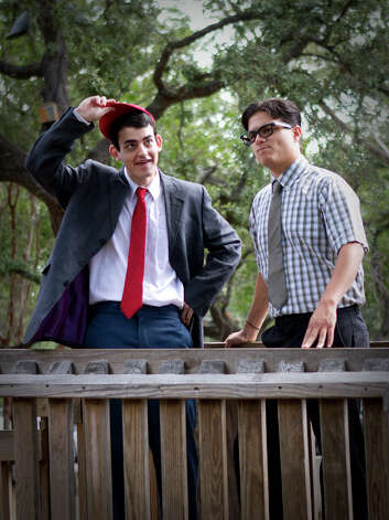 "Alex Berkowitz (from left) and Gabriel Rosen appear in Magik Theatre's ""The Kid Who Ran for Presdient."""