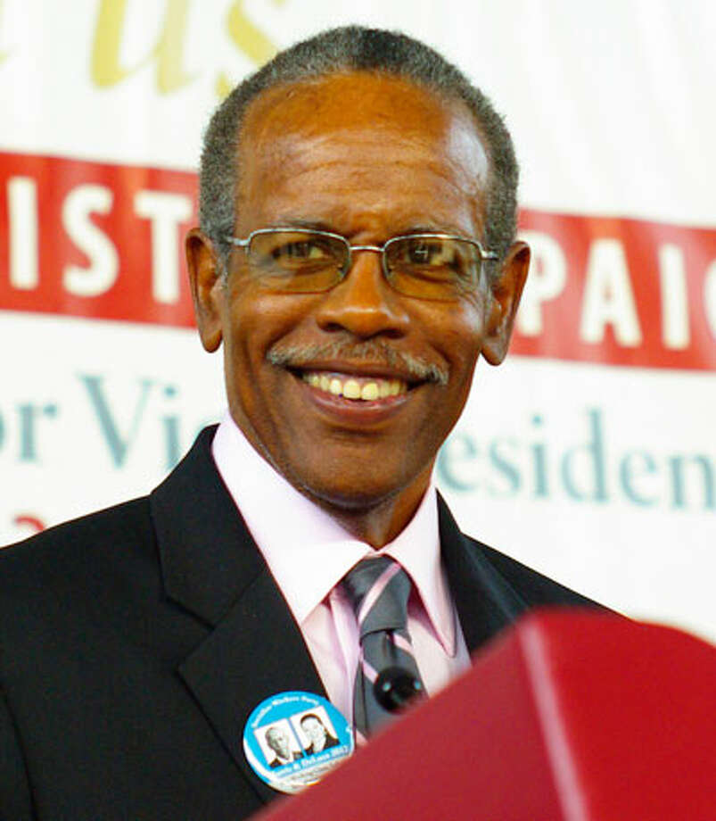 Candidate: James HarrisThis isn't the first bid for president for the Socialists Workers candidate, having run in 1996. Harris, a garment worker and member of the Union of Needletrades, Industrial and Textile Employees, has been active for more than four decades in the struggle for black rights.Website: http://www.themilitant.com/campaign/