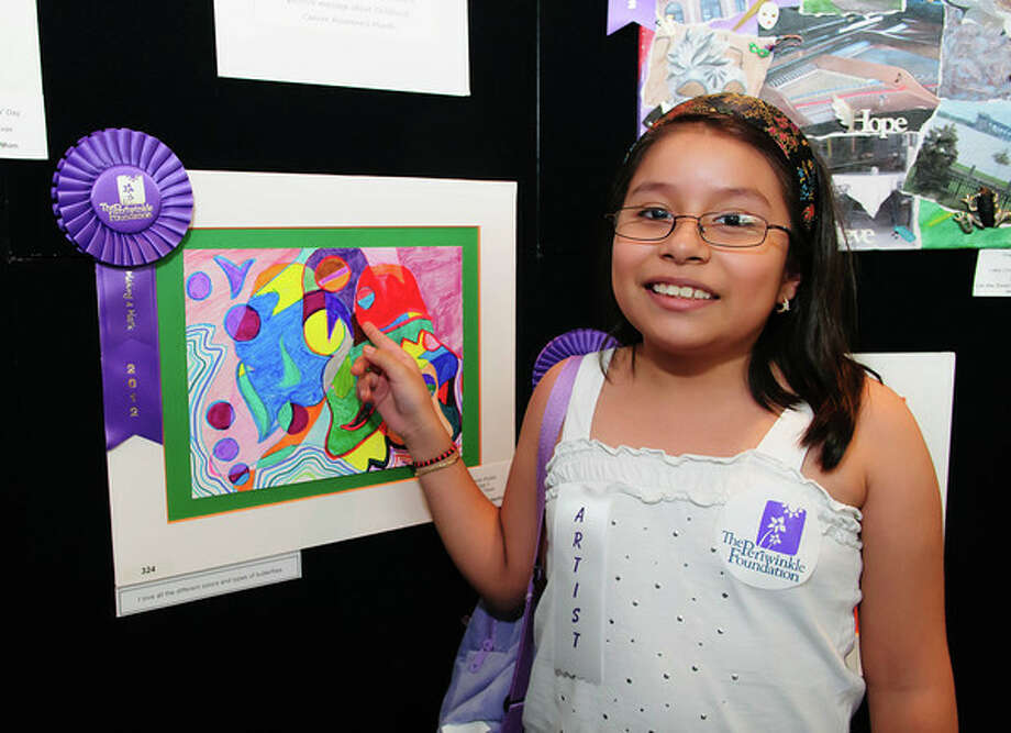 Leslie Ahuatzi, 9, of Katy participated in the Making a Mark Exhibit. Photo: Kim Christensen / ©Kim Christensen