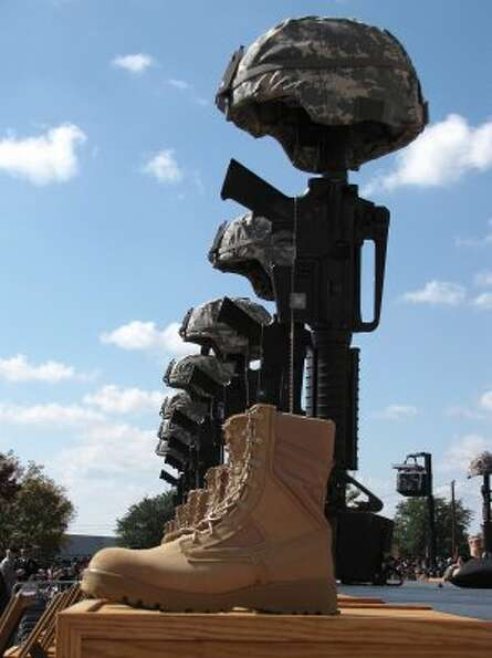 Remembering the fallen at Fort Hood. (Rick Dunham / Houston Chronicle)
