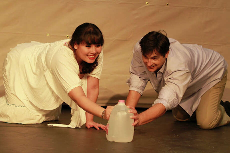 "Alexandra Perez and TJ Gonzales appear in Atta Girl Productions' ""Detained in the Desert."""