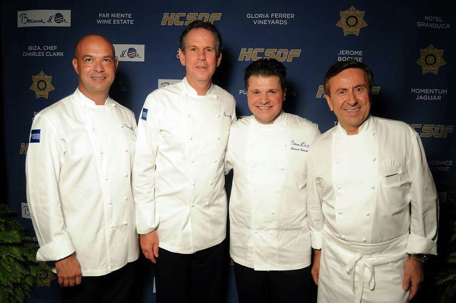 Chefs Jerome Bocuse, from left, Thomas Keller, Richard Rosendale and Daniel Boulud Photo: Dave Rossman / © 2012 Dave Rossman