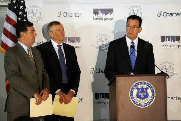 Governor Dannel Malloy speaks during a press conference on Tuesday, October 2, 2012, at 400 Atlantic Street in Stamford to announce Charter Communication will be coming to the town. Photo: Lindsay Niegelberg / Stamford Advocate