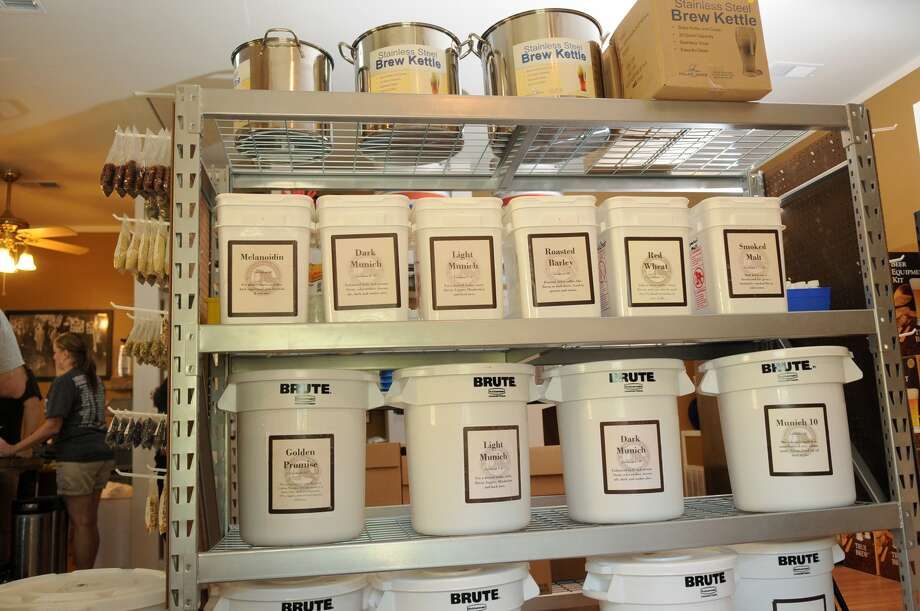 A variety of brewing supplies are available at Backyard Home Brewers in Humble. Photo: Jerry Baker