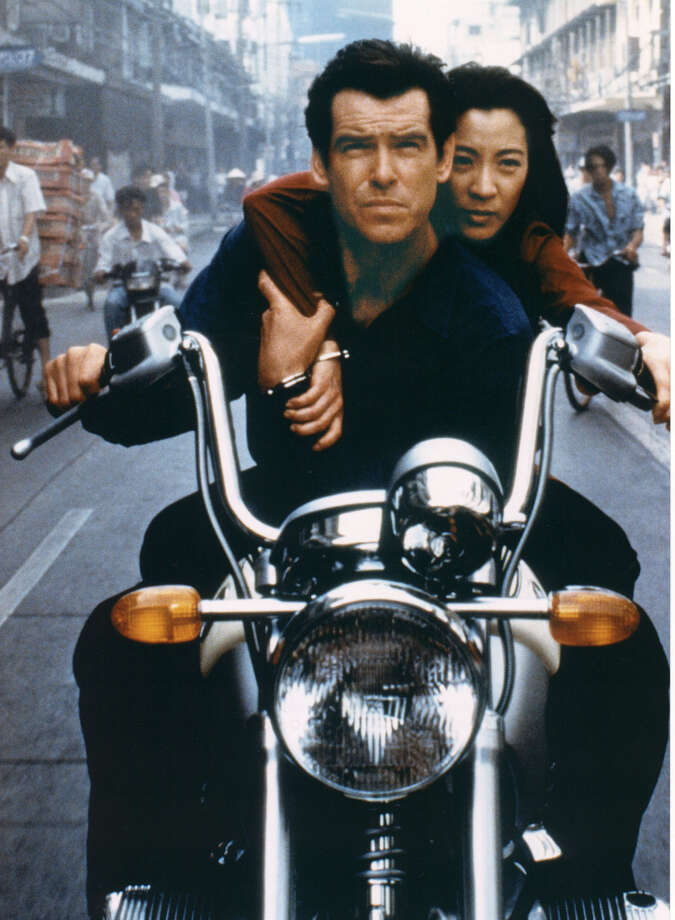 "Tomorrow Never Dies, 1997A scene from the new James Bond movie ""Tomorrow Never Dies"" with Pierce Brosnan and Michelle Yeoh. Photo: Associated Press"
