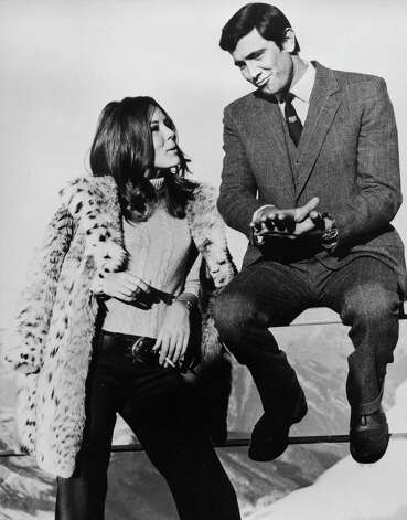 "1969: On Her Majesty's Secret Service — Actor George Lazenby takes over as Bond for only one film — with actress Diana Rigg in ""On Her Majesty's Secret Service."" Photo: BOB DEAR, Associated Press / AP1969"