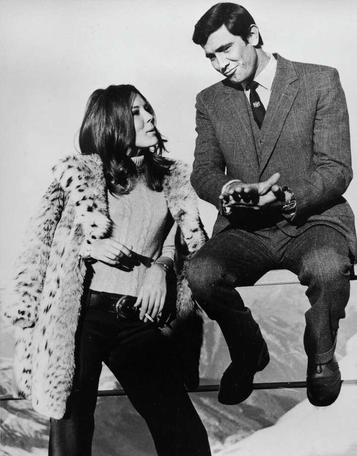 "On Her Majesty's Secret Service, 1969Actor George Lazenby takes over as Bond for only one film — with actress Diana Rigg in ""On Her Majesty's Secret Service."" Photo: BOB DEAR, Associated Press / AP1969"