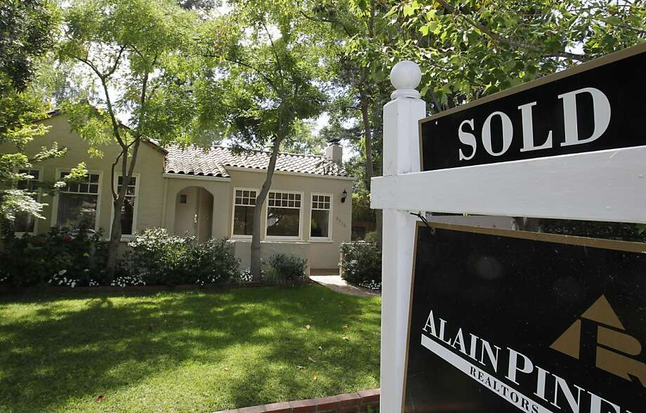 This Tuesday, Aug. 21, 2012, photo, shows an exterior view of a home sold in Palo Alto, Calif. A measure of U.S. home prices jumped 4.6 percent in August compared with a year ago, the largest year-over-year increase in more than six years. CoreLogic, a private real estate data provider, also said Tuesday that prices rose 0.3 percent in August from July, the sixth straight monthly gain. (AP Photo/Paul Sakuma) Photo: Paul Sakuma, Associated Press
