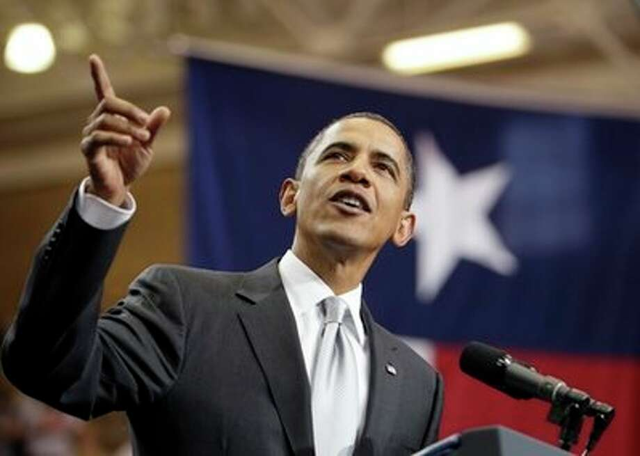 President Barack Obama speaks at the University of Texas in Austin, Texas, Monday, Aug. 9, 2010. (AP Photo/Carolyn Kaster) (AP)