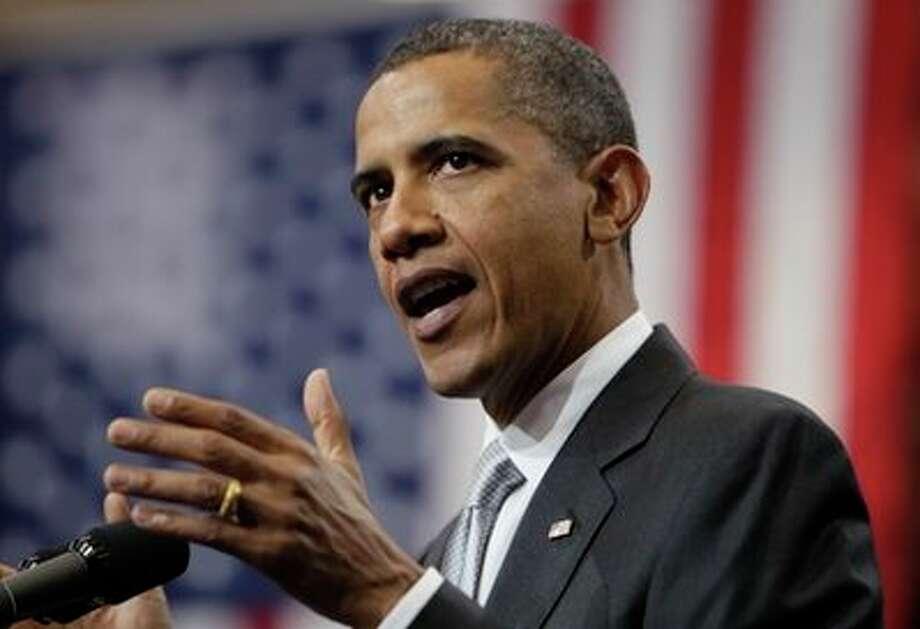 President Barack Obama speaks at the University of Texas in Austin, Texas, Monday, Aug. 9, 2010. (AP Photo/Carolyn Kaster) (AP)