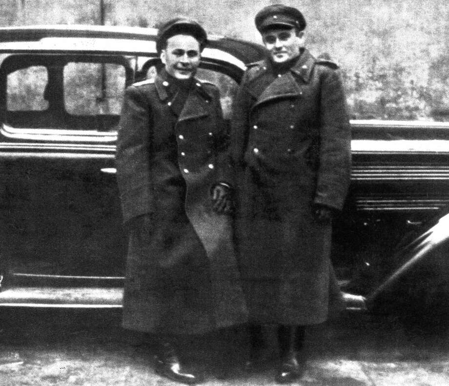 Soviet artillery Col. Georgiy Tyulin (left) and Sergey Korolev, the father of the Soviet space program, are shown in Germany in 1946, during V-2 recovery operations. Photo: NASA