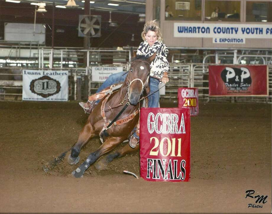 Denise Hester of Rosenberg likes to rodeo. She competed in the 2011 GCBRA at the Wharton County Photo: RM Photos