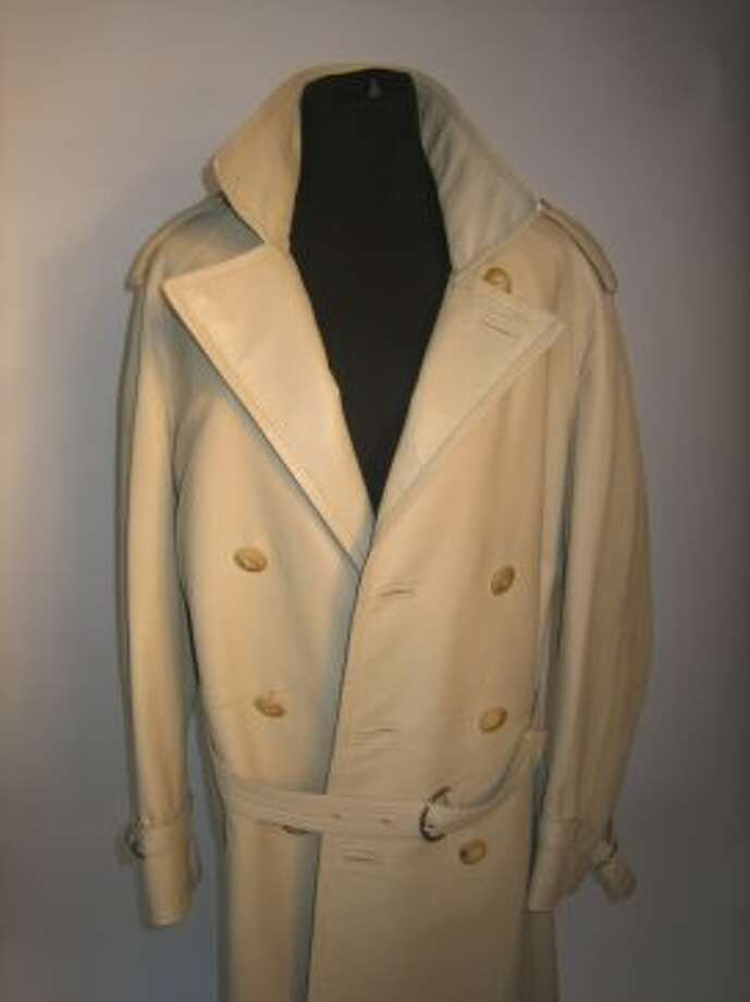 Vintage Christian Dior leather trench owned by Brad Goreski for sale on Copious. (Tony Bravo / 2012)