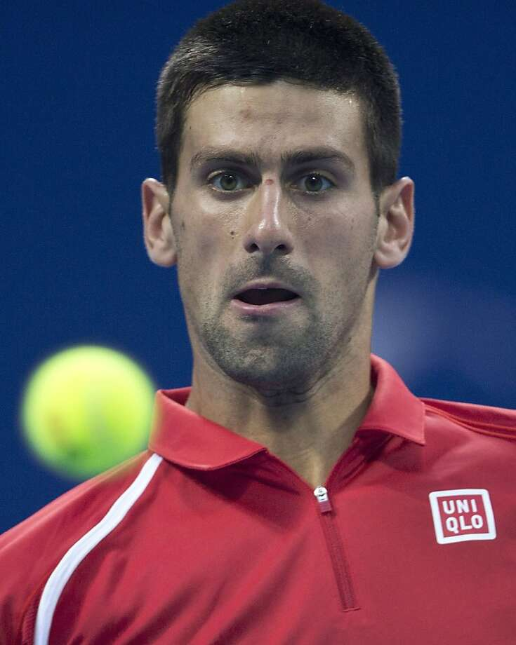 Serbia's Novak Djokovic defeated Michael Berrer 6-1, 6-7, 6-2 in Beijing. Photo: Andy Wong, Associated Press