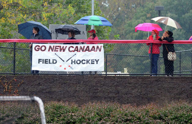 Girls field hockey action between New Canaan and Staples in New Canaan, Conn. on Tuesday October 2, 2012. Photo: Christian Abraham / Connecticut Post