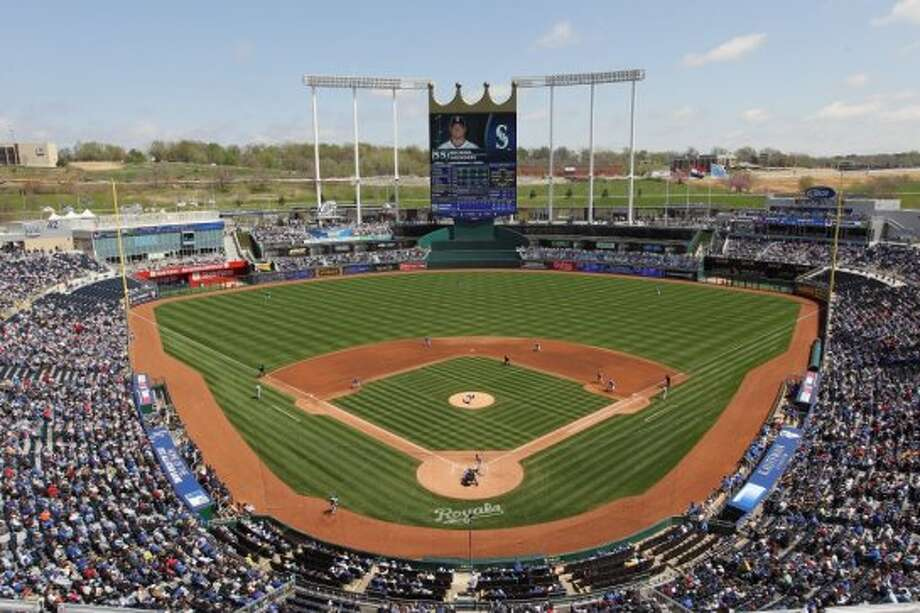"""Homes near a Major League Baseball stadium generally cost more than those in the surrounding metropolitan area, real estate company Trulia reported Thursday. But that's not always the case, and premiums vary widely.With the 2013 baseball season set to start Sunday night, Trulia looked at asking prices of homes near ballparks. Unsurprisingly, the highest prices tended to be in expensive cities, such as San Francisco and Boston.""""(E)ven the cheapest San Francisco neighborhood would give sticker shock to Kansas City or Atlanta residents,"""" Trulia Chief Economist Jed Kolko noted in a blog post.More telling might be how prices near stadiums compare with those of the metro area as a whole. Sensibly, stadiums in or near downtown cost more, relative to the metro area, than those further away.The teams with better betting odds of winning the next World Series also  tend to play in pricier neighborhoods, Kolko wrote, """"though the  correlation isn't strong."""" There also a correlation, but even weaker, between World Series odds and the stadium neighborhood's premium over the area average.Here are Major League ballparks ranked from biggest discount to highest premium, starting with No. 29. Kauffman Stadium, home of the Kansas City Royals, where homes cost just 0.34 times the average for the area. Interestingly, Kaffman Stadium, which is in the suburbs, near two freeways, also has the lowest cost per square foot, $28. Photo: Getty Images"""