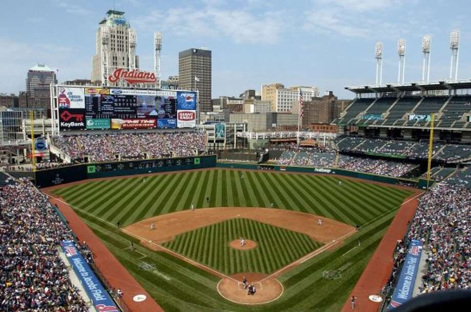 15. Progressive Field, home of the Cleveland Indians. Homes cost $121 per square foot, 1.54 times the area average. Photo: Getty Images