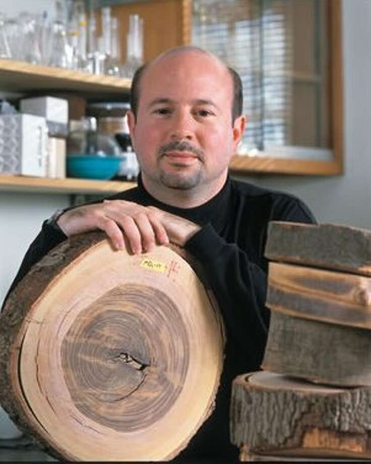 Penn State University climate researcher Michael Mann, who spoke Friday at the Cary Institute of Ecosystem Studies, in Millbrook, Dutchess County.