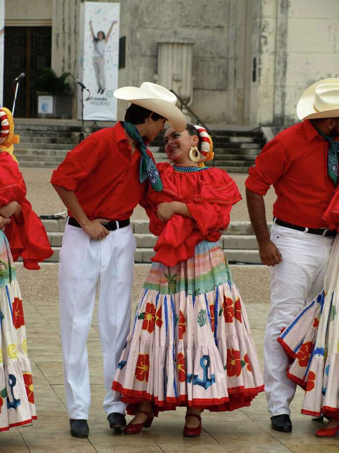 Dancers from the Mexico 2000 Ballet Folklorico and Dance School, located in Dallas, perform traditional dances to audiences throughout the day at the Texas State Fair. Photo: San Antonio Express-News