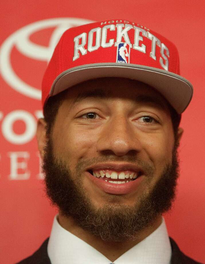 Former Iowa State forward Royce White answers questions during a press conference at the Toyota Center Friday, June 29, 2012, in Houston. The three were drafted by the Houston Rockets in the first round of the 2012 NBA Draft. (Cody Duty / Houston Chronicle) Photo: Cody Duty / © 2011 Houston Chronicle