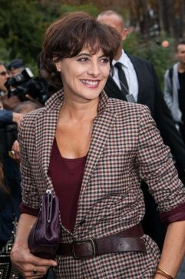Model/designer Ines de la Fressange arrives at the Chanel Spring / Summer 2013 show as part of Paris Fashion Week at Grand Palais on October 2, 2012 in Paris, France.  (Francois Durand/Getty Images)