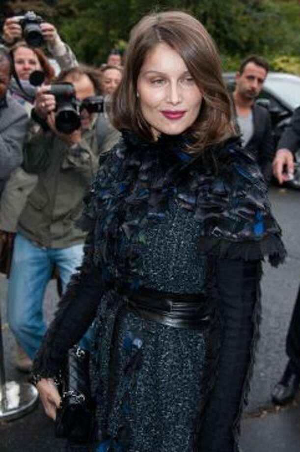 Model/actress Laetitia Casta arrives at the Chanel Spring / Summer 2013 show as part of Paris Fashion Week at Grand Palais on October 2, 2012 in Paris, France.  (Francois Durand/Getty Images)