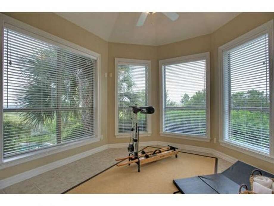 The exercise room allows residents to stay in shape and enjoy the view.