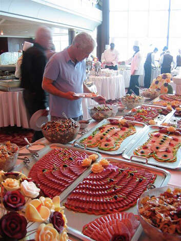 A wealth of great food options were available on the Celebrity Constellation transatlantic cruise, including sumptuous brunches that featured seafood options, carved beef, omelet stations, pastries, specialty drinks  and more. Photo: San Antonio Express-News / San Antonio Express-News