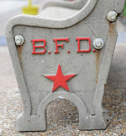 "The ""B"" came from this bench located just outside the Fire Museum across from the Beaumont Enterprise in downtown Beaumont.   Dave Ryan/The Enterprise"