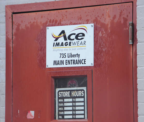"The ""E"" is from the Ace Imageware entrance is located next to the Shepherds Laundries Co. in downtown Beaumont near the Federal Courthouse.  Dave Ryan/The Enterprise"