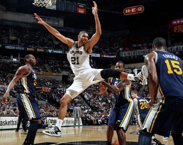Because he has mad moves. Photo: EDWARD A. ORNELAS, SAN ANTONIO EXPRESS-NEWS / © SAN ANTONIO EXPRESS-NEWS (NFS)