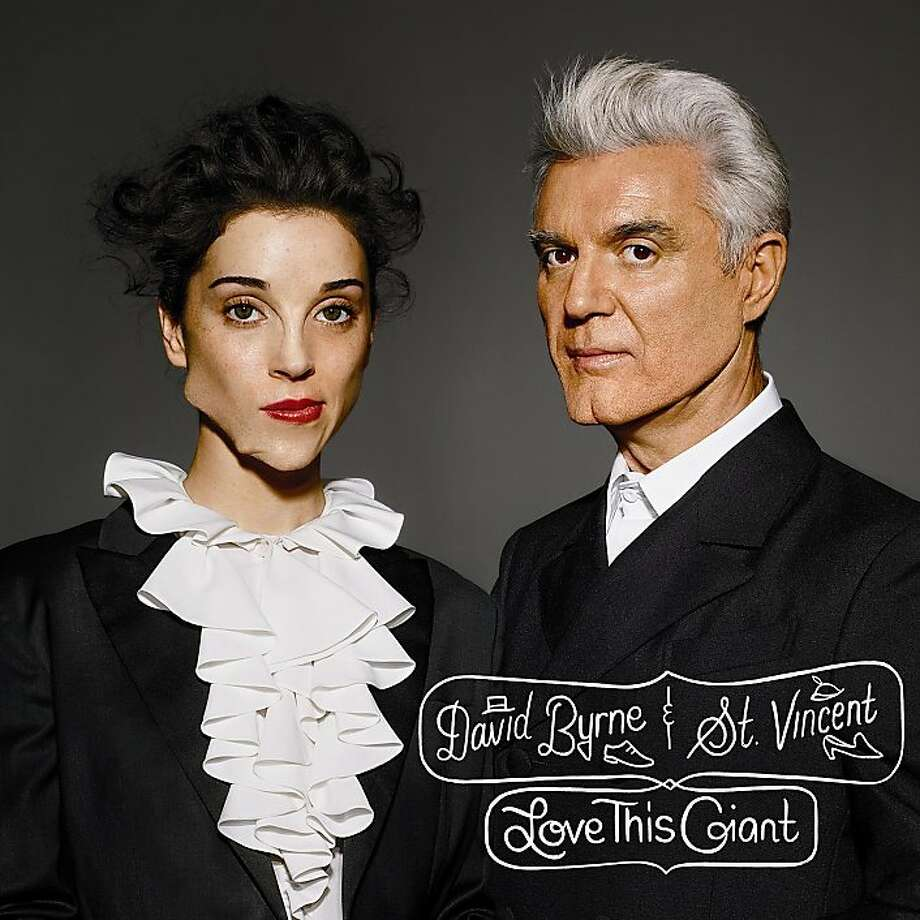 "David Byrne and St. Vincent, ""Love This Giant"" album cover. Photo: 4ad"