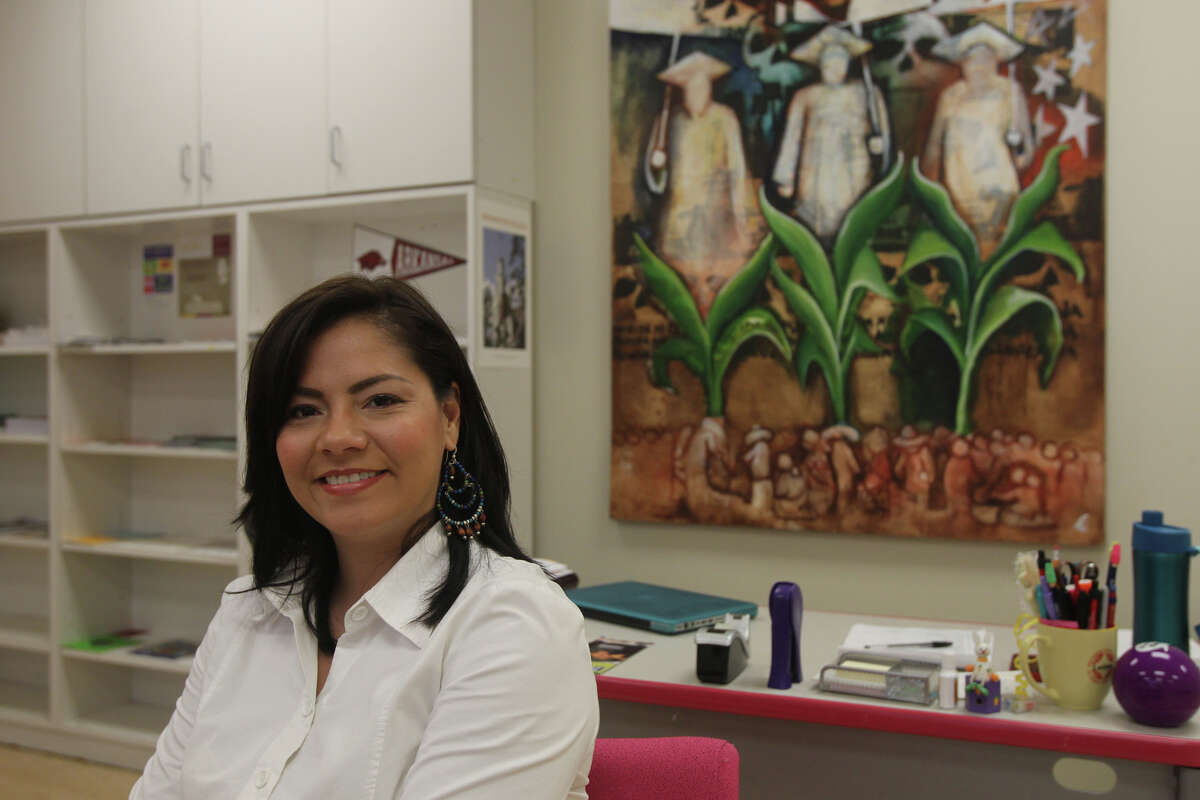 Lori Rodriguez, the college prep coordinator at Henry Ford Academy, is president of the board of San Anto Cultural Arts, a grassroots arts organization on the West Side.