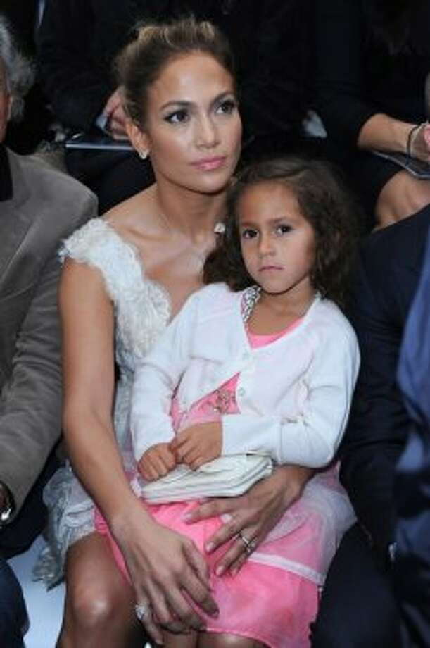 Jennifer Lopez and her daughter Emme attend the Chanel Spring / Summer 2013 show as part of Paris Fashion Week at Grand Palais on October 2, 2012 in Paris, France.  (Pascal Le Segretain/Getty Images)