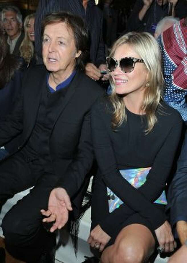 Sir Paul McCartney and Kate Moss attend the Stella McCartney Spring / Summer 2013 show as part of Paris Fashion Week on October 1, 2012 in Paris, France.  (Pascal Le Segretain/Getty Images)