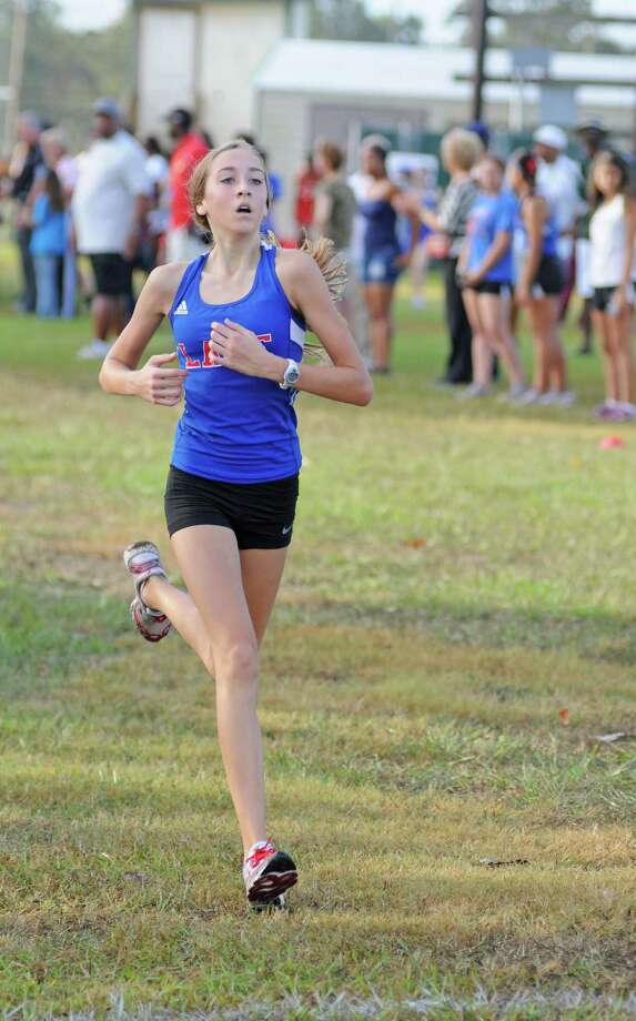 Clear Lake freshman Allison Halloran was the top individual finisher for the team champion Lady Falcons at the recently held Clear Creek ISD Meet at Walter Hall Park in League City. Halloran finished sixth overall. Photo: L. Scott Hainline / freelance
