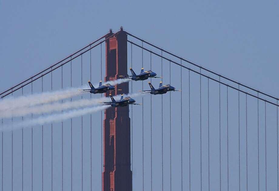 CALIFORNIA: What do you get a bridge for its 75th birthday? The Blue Angels. And hundreds of thousands of visitors to Golden Gate, perhaps the most-photographed bridge in the world.  Photo: Matt Soderstrom
