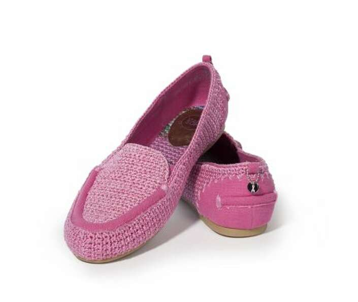 The Lisa Crochet Driver ($69) in  Sandra Pink features The Saks' branded mandala with the Breast Can