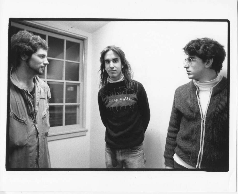 Dinosaur Jr. -- J. Mascis (long hair), Lou Barlow (glasses) and Murph.   courtesy of Merge Records. / handout