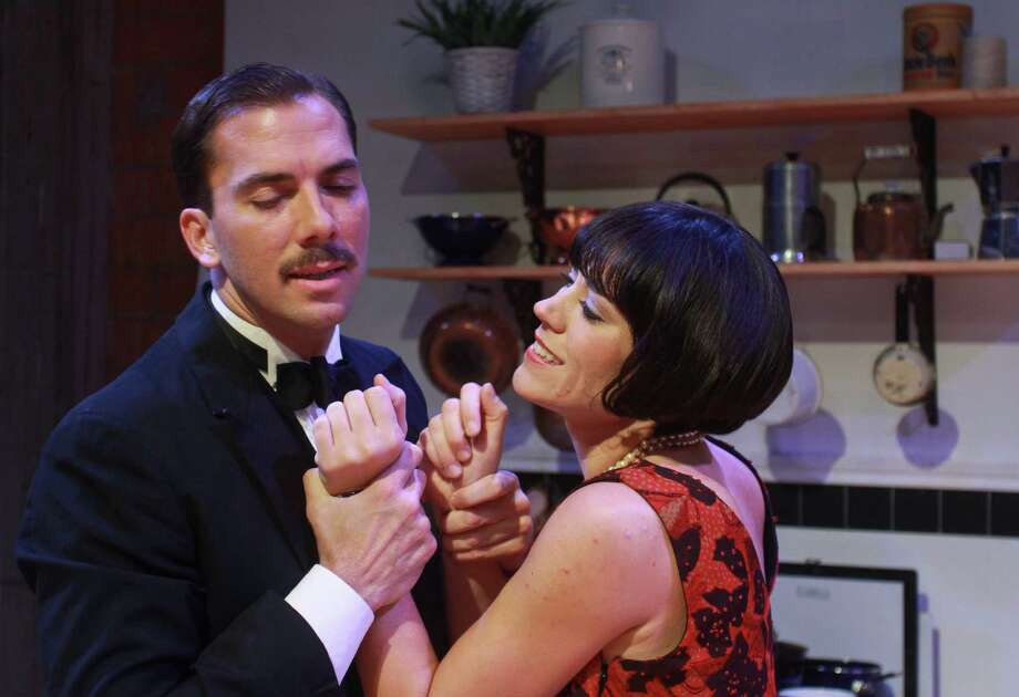 "(For the Chronicle/Gary Fountain, September 25, 2012)  David Matranga as Jean, and Jennifer Dean as Miss Julie, in this scene from Classical Theatre's production of Strindberg's ""Miss Julie."" Photo: Gary Fountain / Copyright 2012 Gary Fountain."