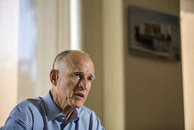 California Gov. Jerry Brown Interview in Brown's office at the state capitol Sacramento California, on Saturday September 15th 2012By Ken James/SPECIAL TO THE CHRONICLE Photo: Ken James, SFC