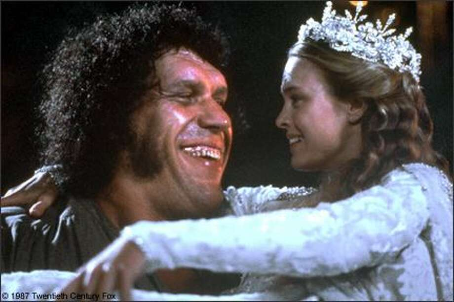 "Andre the Giant, pictured above as Fezzik carrying Robin Wright. The French strongman died on Jan. 27, 1993, less than six years after the movie's release. His line to remember – ""Anybody want a peanut?"" Photo: -"