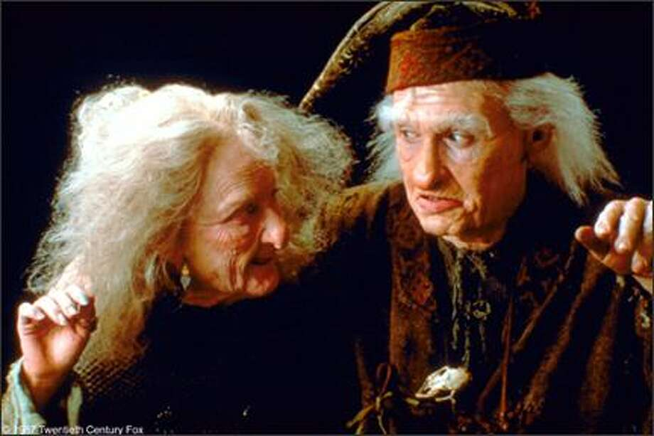 """Billy Crystal as Max Miracle playing opposite Carol Kane as Valerie. His best line – """"Have fun storming the castle."""" And hers – """"I'm not a witch, I'm your wife. But after what you just said, I'm not even sure I want to be that any more."""" Photo: -"""
