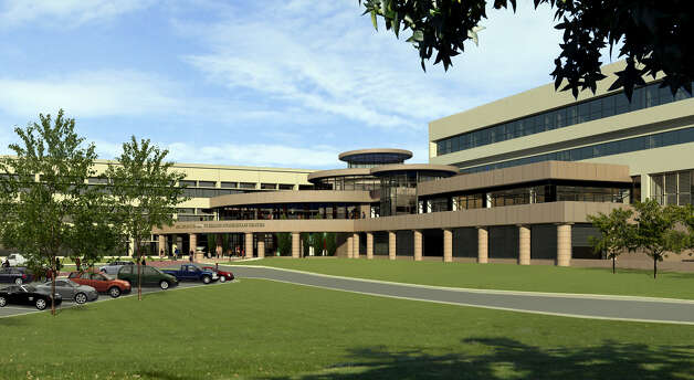 A rendering of the exterior at Quinnipiac University's Frank H. Netter MD School of Medicine. Photo: Contributed Photo