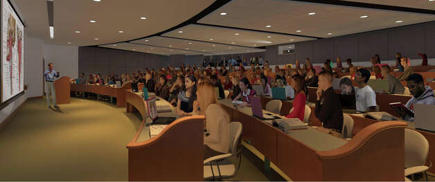 A rendering of a lecture hall at Quinnipiac University's Frank H. Netter MD School of Medicine. Photo: Contributed Photo