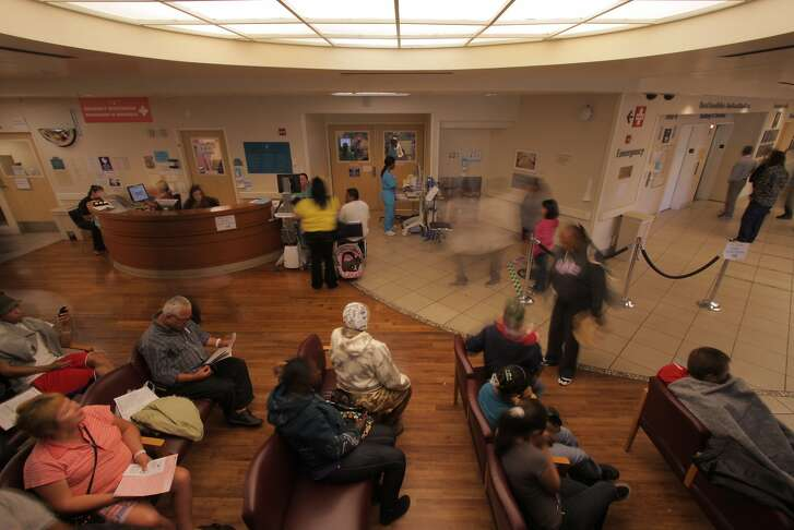 "The waiting room at Highland Hospital in the documentary ""The Waiting Room"""